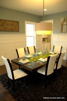 simple, elegant dining room    love the board and batten