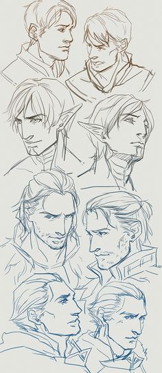 Dragon Age. These are beautiful sketches.