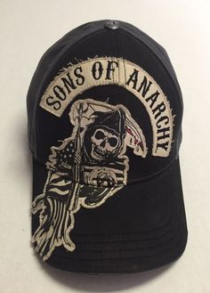 0ccad584c65 Sons of Anarchy Hat Television Baseball Cap L XL Grim Reaper Skull  Destroyed TV