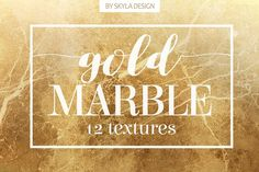 Gold marble texture patterns by Skyla Design on @creativemarket