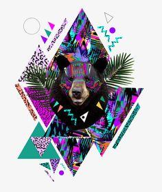 Kris Tate, photography, bear, art, painting,