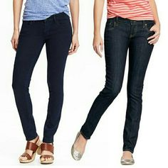 Old Navy The Diva Dark Denim Jeans Size 1 Regular Old Navy The Diva Dark Denim Jeans  Size 1 Regular - Approx. To Size 8-10 Straight Leg Three Front Pockets Two Back Pockets  Excellent Condition!!! Barely Worn.  Note: Refer to Right Pic for Jean Representation Photo Credit rankandstyle.com Old Navy Jeans Straight Leg