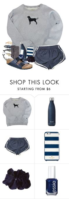 """""""SHOUTOUT SET"""" by pinkrasberry ❤ liked on Polyvore featuring NIKE, Kate Spade, Essie and Birkenstock"""