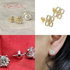 #jewelry #earrings #studearrings #diamondearrings #bridalearrings #weddingearrings #fineearrings #2caratsdiamonds #genuinediamonds #6prongsearrings #solitaireearrings #diamondstuds #bridesmaidearrings #14kyellowgold #birthstonediamond #pushbackstud