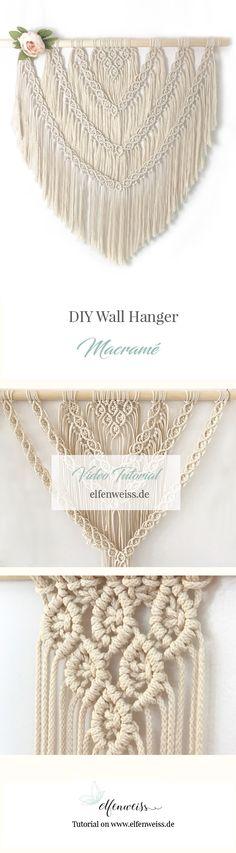 Macramé Wallhanger - selbermachen. Ich zeige Euch auf dem Blog mit einer Video-Anleitung wir ihr diesen Macrame-Wallhanger nachmachen könnt.