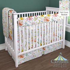 Crib Bedding In Watercolor Springtime Pink Primrose Created Using The Nursery DesignerR By
