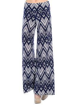 Wide leg palazzo pants   Color-Cross Line Navy #palazzo pants #geoprint