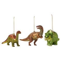 Dinosaur Ornament Set Of 3, $12, now featured on Fab.