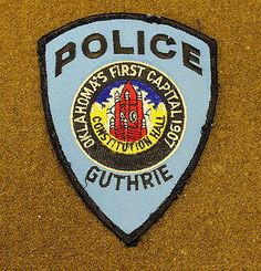 17710) US Patch Guthrie Oklahoma Police Constitutional Hall Insignia Sheriff