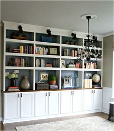 library built in bookcases thrifty decor chick.....playroom??