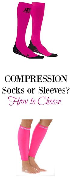 Should I wear compression socks or compression sleeves? Here are some tips to help you decide whether to wear compression socks or sleeves for long runs and/or recovery.