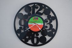 Vinyl Record Album Wall Clock (artist is The Clare Fischer Big Band) via Etsy