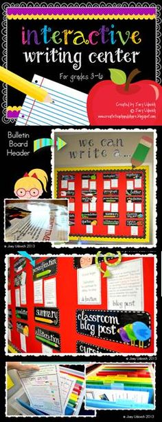 YAH!!!  211 pages of INTERACTIVE writing and reading for grades 3-6!!  I couldn't find it..so I made it!  155 DETAILED direction, sample, and student work pages...along with a complete interchangeable bulletin board set!! This file is so detailed that it allows for flawless independent student work, leaving the teacher more time for small group and individualized instruction!!  This would also work GREAT on a tri-fold board! $