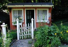charming tool shed