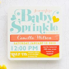 Celebrating your second baby? Throw a Baby Sprinkle in lieu of a baby shower.