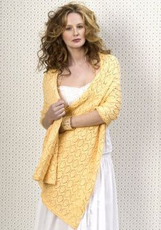 Maroma Wrap fancy formal or casual wrap with circle medallion lace
