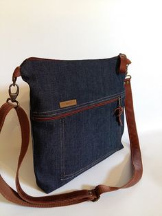 Denim bag Unisex bag Gift for him Gift for her Everyday by BYildi