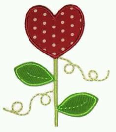So sweet for Valentine's or any day of the year! This heart flower applique comes in 3 different sizes! Embroidery Designs, Applique Designs, Floral Flowers, Flower Art, Heart Flower, Valentine Wishes, Valentines, Flower Applique, Summer Fun