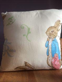 Peter Rabbit cushion back