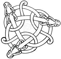 celtic dragon embroidery patterns free - Google Search Tatto Viking, Norse Tattoo, Celtic Tattoos, Viking Dragon, Celtic Dragon, Viking Art, Viking Designs, Celtic Knot Designs, Black Tattoo Art