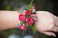 Always in Bloom Florist Hot Pink Flowers, Prom Flowers, Wedding Flowers, Flower Corsage, Wrist Corsage, Bracelet Corsage, In Bloom Florist, Wrist Flowers, Spray Roses