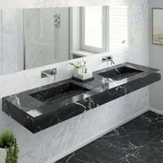 Is there anything more stunning than a double marble washbasin? 😍🤩🥂
