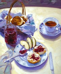 Francis Livingston | Coffee and Breakfast Table Illustration