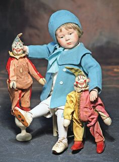 RARE EARLY SCHOENHUT WOODEN CHARACTER BOY, TRANSITIONAL : Lot 194