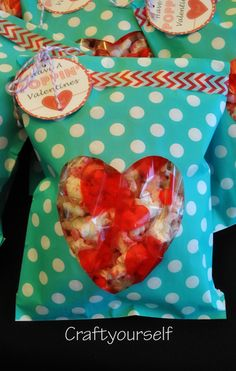Love this Valentine's Day packaging for popcorn!