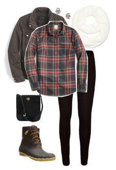 """Untitled #367"" by farmers-wife-blessed-life ❤ liked on Polyvore featuring G.H. Bass & Co., Sperry, J.Crew and Tory Burch"
