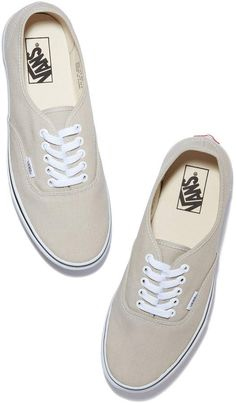 Vans Authentic Sneaker. Vans Authentic Sneaker in Silver Lining/Tru White, Size 6.5: This tried-and-true streetwear staple comes in white canvas fabric complete with crisp white laces and the signature waffle rubber sole. While they pair particularly well with jeans and tees, the styling options are truly limitless.  #affiliate #ad #sneakers #vans