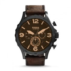 online shopping for Fossil Men's Nate Stainless Steel Watch Brown Leather Band from top store. See new offer for Fossil Men's Nate Stainless Steel Watch Brown Leather Band