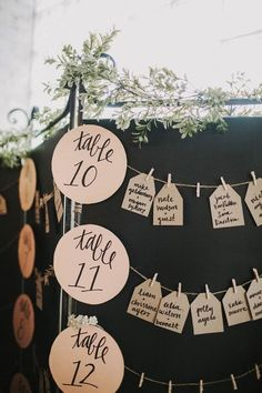 Fun wedding seating chart idea | Image by Justine Montigny