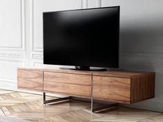 22 Tantalizing Mueble Tv Stand Ideas : First-Rate mueble tv stand Ideas. Cool Tv Stands, Tv Cabinets, Wooden Flooring, Interiores Design, Cool Stuff, Inspiration, Modern Tv, Aspen, Modern Tv Stands