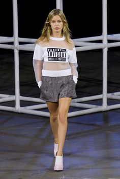The Top 11 Trends For Spring 2014: Use Your Words - Alexander Wang Spring 2014