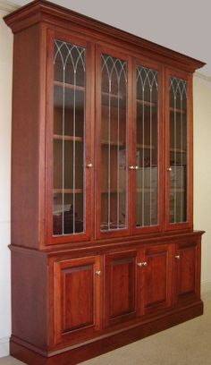 Cherry Bookcase with Glass Doors