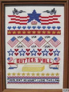 Think I'm going to learn cross stitch so I can make this. America Supreme - PATTERN. $8.99, via Etsy.