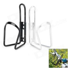 Aluminum Alloy Bicycle Water Bottle Cage Bracket - Black   Silver (2 PCS) Price: $5.99