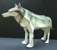 Timber Wolf Paper Model - by N.Fujio / Canon