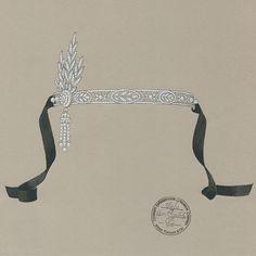 A sketch for the Savoy headpiece from The Great Gatsby Collection.