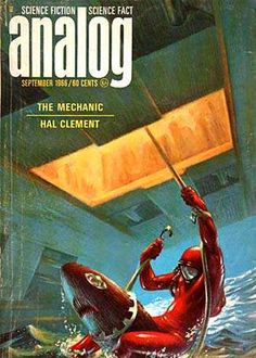 Kelly Freas, Analog 66-09, The Mechanic by Hal Clement.