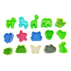 Cute Animal Mold | 15 Pcs Colorful Cookie Cutter Set with...