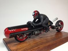 """Bonneville Racer"" 1/12 scale. By Katoya. #motorcycle #figure_model #kitbash http://www.tinami.com/view/735843"