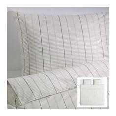 IKEA - STOCKHOLM, Dekbedovertrek met 2 slopen, 240x220/50x60 cm, , Voelt fris en koel aan op de huid omdat het is gemaakt van perkalkatoen; dicht geweven van fijn garen.</t><t>Gekleurd garen; het garen wordt voor het weven geverfd; geeft zacht beddengoed.</t><t>Door de blinde drukknopen blijft het dekbed op zijn plaats.