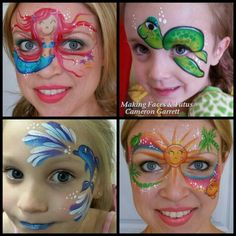 Summer face painting designs by Making Faces Tutus www.MakingFaces.vpweb.com