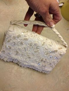Outside of Bridal Clutch purse.