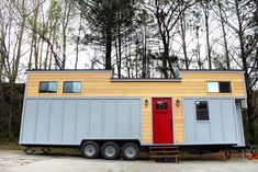 The Juniper was originally a custom build by Mustard Seed Tiny Homes, but since they have received so much interest in the home, they are now offering it as one of their models. This model is 31-feet long and offers over 400-square-feet of living space.