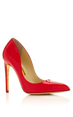 Patent Leather Elba Pointy Pump by Rupert Sanderson Now Available on Moda Operandi