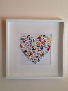 Mosaik Polterabend Hochzeit DIY