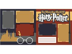 The Wizarding World of Harry Potter, Pre-Cut Scrapbook Kit - Scrapbook Concierge